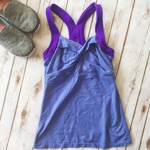 Athleta t-back purple workout tank